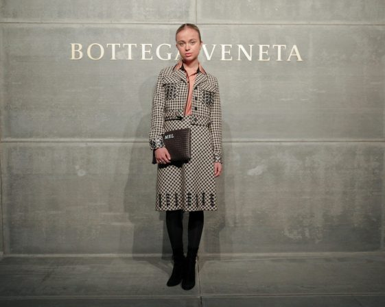 Lady Amelia Windsor, At the Bottega Veneta Fall Winter 2018 show at the American Stock Exchange in New York City