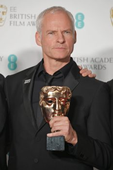 "LONDON, ENGLAND - FEBRUARY 18: Martin McDonagh, winner of the Best British Film award for ""Three Billboards Outside Ebbing, Missouri"" pose in the press room during the EE British Academy Film Awards (BAFTA) held at Royal Albert Hall on February 18, 2018 in London, England. (Photo by David M. Benett/Dave Benett/Getty Images)"
