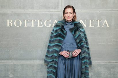 Nieves Alvarez, At the Bottega Veneta Fall Winter 2018 show at the American Stock Exchange in New York City