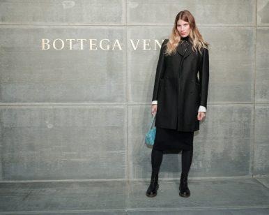 Veronika Heilbrunner, At the Bottega Veneta Fall Winter 2018 show at the American Stock Exchange in New York City