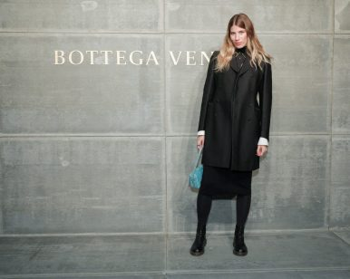 Veronika Heilbrunner, At the Bottega Veneta Fall Winter 2018 show at the American Stock Exchange in New York City
