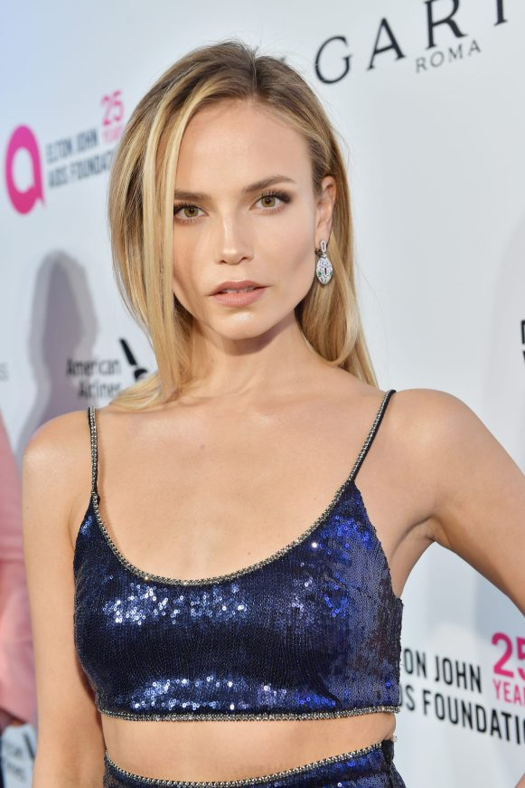 WEST HOLLYWOOD, CA - MARCH 04: Natasha Poly attends the 26th annual Elton John AIDS Foundation Academy Awards Viewing Party sponsored by Bulgari, celebrating EJAF and the 90th Academy Awards at The City of West Hollywood Park on March 4, 2018 in West Hollywood, California. (Photo by Stefanie Keenan/Getty Images for Bulgari)