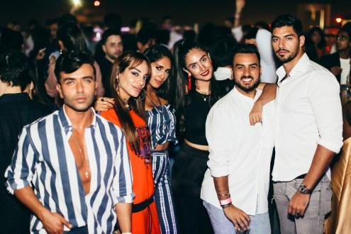 Ahmed El Sayed, Zeynab El Helw, Enjy Kiwan and guests