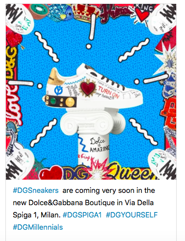 Les Basket Do It Yourself , #Milléniale de Dolce And Gabanna