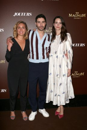 Marie Monge, Tahar Rahim and Stacy Martin - Magnum VIP Party for the movie 'Joueurs; Treat me like fire' during the 71th Cannes Film Festival 2018 on May 11 2018.