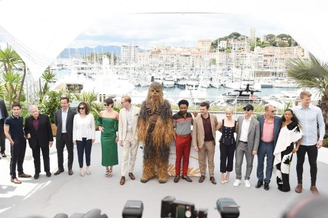 XXX and XXX attend the 'Solo: A Star Wars Story' official photocall at Palais des Festivals on May 15, 2018 in Cannes, France.
