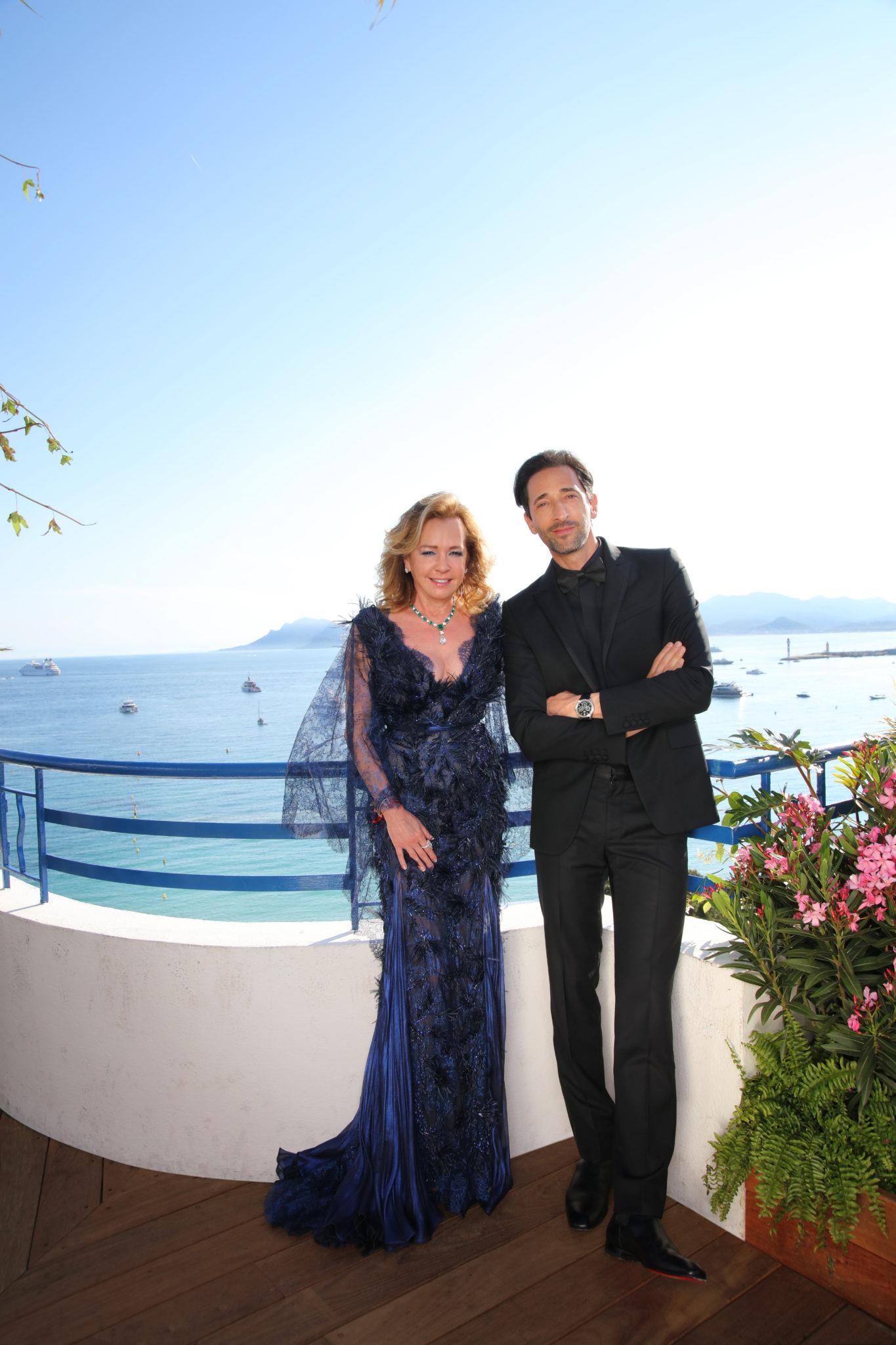 Caroline Scheufele & Adrian Brody with a L.U.C (2)