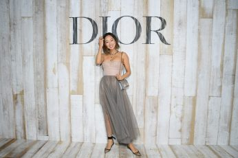 CHANTILLY, FRANCE - MAY 25: Aimee Song poses at a photocall during Christian Dior Couture S/S19 Cruise Collection on May 25, 2018 in Chantilly, France. (Photo by Pascal Le Segretain/Getty Images For Christian Dior) *** Local Caption *** Aimee Song