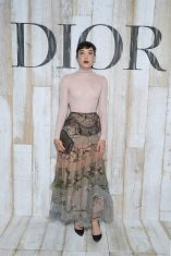CHANTILLY, FRANCE - MAY 25: Mia Moretti poses at a photocall during Christian Dior Couture S/S19 Cruise Collection on May 25, 2018 in Chantilly, France. (Photo by Pascal Le Segretain/Getty Images For Christian Dior) *** Local Caption *** Mia Moretti