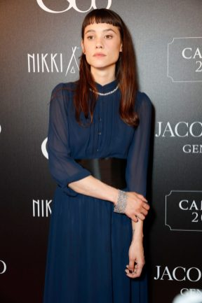 CANNES, FRANCE - MAY 16: Ëstrid Bergs-Frisbey attends the Jacob & Co Cannes 2018 party at Nikki Beach on May 16, 2018 in Cannes, France. Pic Credit: Dave Benett *** Local Caption *** Ëstrid Bergs-Frisbey
