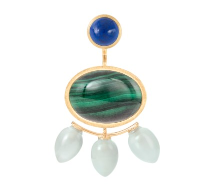 lapis lazuli-malachite-aquamarine