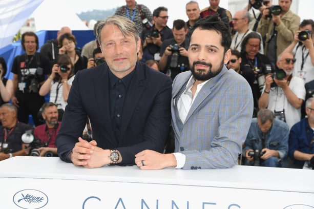 """CANNES, FRANCE - MAY 10: (L-R) Actor Mads Mikkelsen and director Joe Penna attend the photocall for """"Arctic"""" during the 71st annual Cannes Film Festival at Palais des Festivals on May 10, 2018 in Cannes, France. (Photo by Pascal Le Segretain/Getty Images)"""