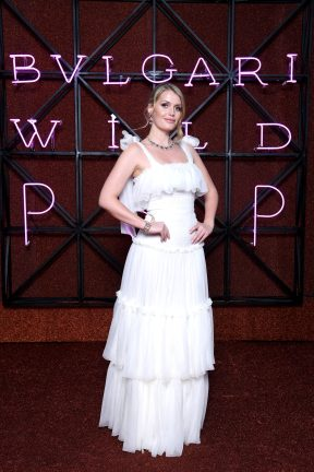 ROME, ITALY - JUNE 28: Kitty Spencer attends BVLGARI Dinner & Party at Stadio dei Marmi on June 28, 2018 in Rome, Italy. (Photo by Daniele Venturelli/Daniele Venturelli/Getty Images for Bvlgari )