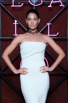 ROME, ITALY - JUNE 28: Lily Aldridge attends BVLGARI Dinner & Party at Stadio dei Marmi on June 28, 2018 in Rome, Italy. (Photo by Daniele Venturelli/Daniele Venturelli/Getty Images for Bvlgari )