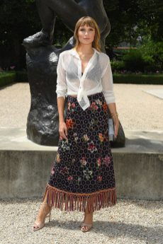 b0325e25 PARIS, FRANCE - JULY 02: Ana Girardot attends the Christian Dior Haute  Couture Fall