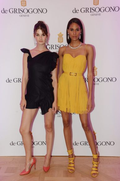 de GRISOGONO_Diner Party Ritz_Photocall_Ophélie Guillermand et Cindy Bruna