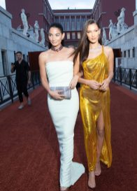 Lily ALDRIDGE. Bella HADID.. Bulgari Brand Event High Jewerly. Wild Pop. Rome . Italy 06/2018 © david atlan