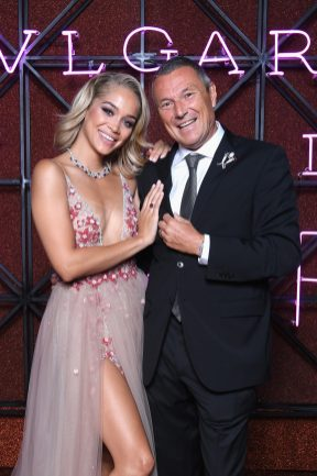 ROME, ITALY - JUNE 28: Jasmine Sanders and Jean-Christophe Babin attend BVLGARI Dinner & Party at Stadio dei Marmi on June 28, 2018 in Rome, Italy. (Photo by Daniele Venturelli/Daniele Venturelli/Getty Images for Bvlgari )