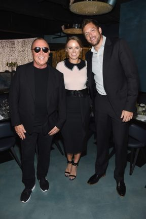 NEW YORK, NY - SEPTEMBER 12: Michael Kors, Caroline Wozniacki and David Lee attend the Michael Kors x 10 Corso Como Dinner at 10 Corso Como on September 12, 2018 in New York City. (Photo by Larry Busacca/Getty Images for Michael Kors)