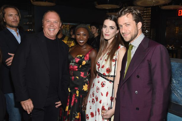 NEW YORK, NY - SEPTEMBER 12: (L-R) Lance le Perle, Michael Kors, Cynthia Erivo, Bee Carrozzini and Francesco Carrozzini attend the Michael Kors x 10 Corso Como Dinner at 10 Corso Como on September 12, 2018 in New York City. (Photo by Larry Busacca/Getty Images for Michael Kors)