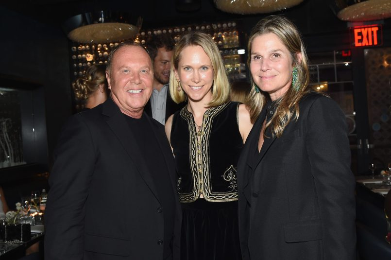 NEW YORK, NY - SEPTEMBER 12: Michael Kors and Indre Rockefeller (C) attend the Michael Kors x 10 Corso Como Dinner at 10 Corso Como on September 12, 2018 in New York City. (Photo by Larry Busacca/Getty Images for Michael Kors)