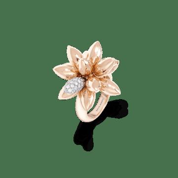 11-01-2495 Rose Gold Diam Hedgehog Ring