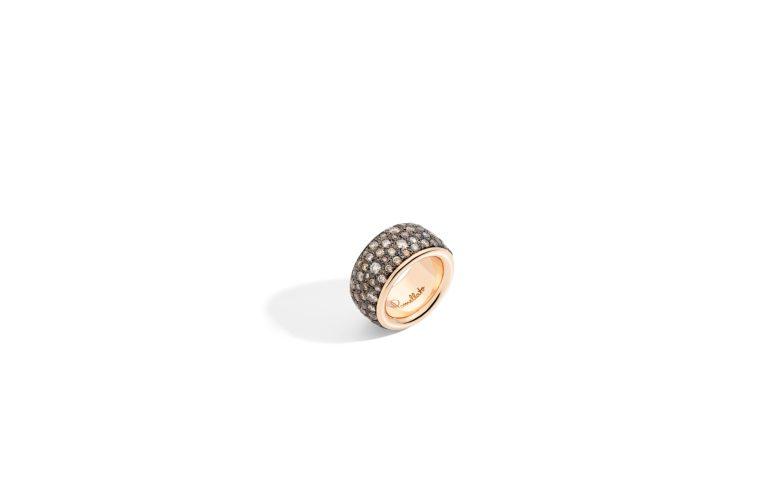 ICONICA band ring with brown diamonds - Pomellato
