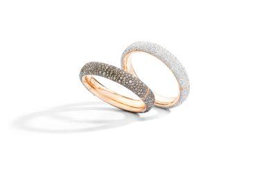 ICONICA bangles with white or brown diamonds - Pomellato