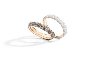 ICONICA bangles with white or brown diamonds - Pomellato