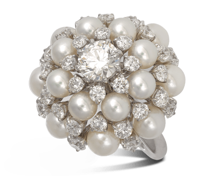 RING 1106500 PEARL DIAMOND ANEMONE_G
