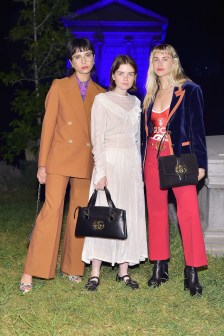 HOLLYWOOD, CA - NOVEMBER 02: (L-R) Olivia Rosenberg, Reese Blutstein and Courtney Trop attend Gucci Guilty Launch Party at Hollywood Forever on November 2, 2018 in Hollywood, California. (Photo by Stefanie Keenan/Getty Images for GUCCI)