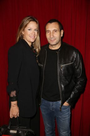 Zinedine Soualem et sa compagne Caroline Faindt lors de la soiree d'inauguration du restaurant Roxie a Paris, France, le 27 Novembre 2018. Photo by Jerome Domine/ABACAPRESS.COM