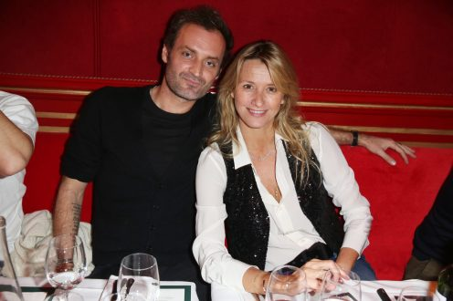 Augustin Trapenard et Sarah Lavoine lors de la soiree d'inauguration du restaurant Roxie a Paris, France, le 27 Novembre 2018. Photo by Jerome Domine/ABACAPRESS.COM