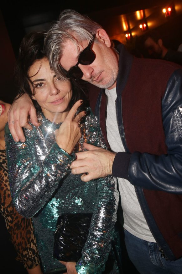 Sandra Sisley et Kavinsky lors de la soiree d'inauguration du restaurant Roxie a Paris, France, le 27 Novembre 2018. Photo by Jerome Domine/ABACAPRESS.COM
