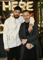 MIAMI, FL - DECEMBER 06: Ronnie Fieg (L) and Daniel Arsham attend Adidas Originals, British Fashion Council and David Beckham host a dinner in celebration of their creative collaboration on December 6, 2018 in Miami, United States. (Photo by Getty Images/BFC/Getty Images for BFC) *** Local Caption *** Ronnie Fieg;Daniel Arsham
