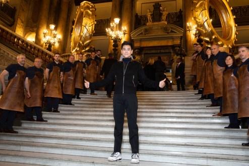 Eddie PENG.. Show BERLUTI. W19-20. Opera de Paris. 01/2019 © david atlan