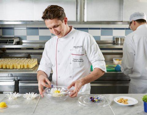 The Peninsula Hong Kong - Chef François crafting Gaddi's plated desserts