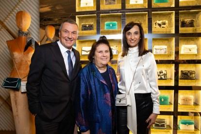 Jean-Christophe BABIN. Suzy MENKES. Mireia LOPEZ MONTOYA.. FW19. Bulgari . Milan. Italy. 02/2019 © david atlan