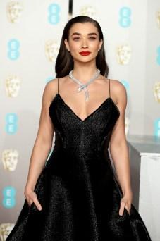 LONDON, ENGLAND - FEBRUARY 10: Amy Jackson attends the EE British Academy Film Awards at Royal Albert Hall on February 10, 2019 in London, England. (Photo by Mike Marsland/WireImage)