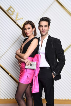 MILAN, ITALY - FEBRUARY 22: Nieves Álvarez and Jon Kortajarena attend BVLGARI - Dinner Party - Milan Fashion Week FW19 on February 22, 2019 in Milan, Italy. (Photo by Daniele Venturelli/Daniele Venturelli/Getty Images for BVLGARI )