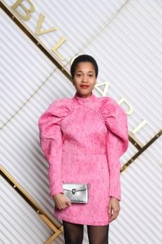 MILAN, ITALY - FEBRUARY 22: Tamu McPherson attends BVLGARI - Dinner Party - Milan Fashion Week FW19 on February 22, 2019 in Milan, Italy. (Photo by Daniele Venturelli/Daniele Venturelli/Getty Images for BVLGARI )