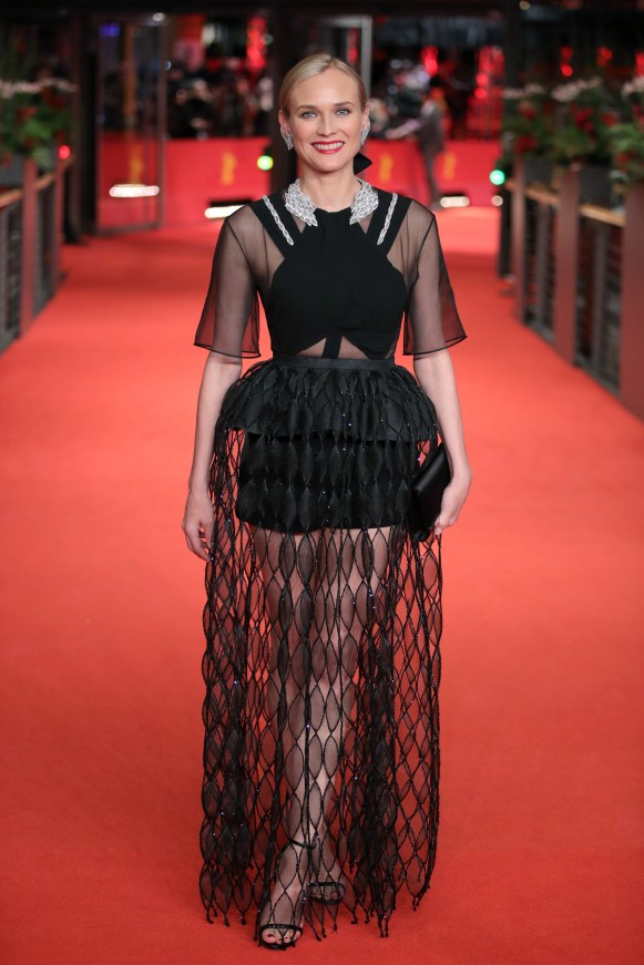 """BERLIN, GERMANY - FEBRUARY 10: Diane Kruger attends the """"The Operative"""" (Die Agentin) premiere during the 69th Berlinale International Film Festival Berlin at Berlinale Palace on February 10, 2019 in Berlin, Germany. (Photo by Andreas Rentz/Getty Images)"""