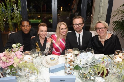 Hassan Pierre, Caroline Scheufele, Amanda Hearst, Joachim Ronning and Suzanne Donaldson attend MAISON-DE-MODE.COM Sustainable Style Gala at Sunset Tower