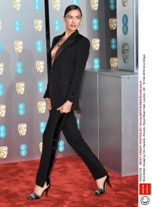 Mandatory Credit: Photo by Anthony Harvey/BAFTA/REX/Shutterstock (10082375fk) Irina Shayk 72nd British Academy Film Awards, Arrivals, Royal Albert Hall, London, UK - 10 Feb 2019
