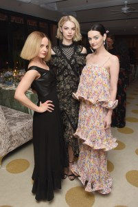LOS ANGELES, CA - FEBRUARY 23: Mena Suvari, Allie Marie Evans and Lydia Hearst attend MAISON-DE-MODE.COM Sustainable Style Gala at Sunset Tower on February 23, 2019 in Los Angeles, California. (Photo by Vivien Killilea/Getty Images for MAISON-DE-MODE.COM)