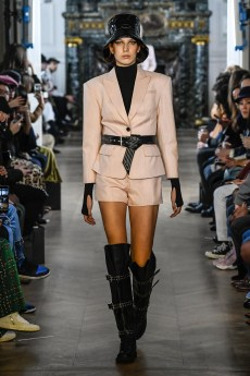 A Model wearing an outfit from the women s ready to wear collections, winter 2019 2020, original creation, during the Womenswear Fashion Week in Paris, from the house of Liu Chao