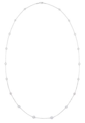 RseCt Diam Chain Sautoire Necklace QR