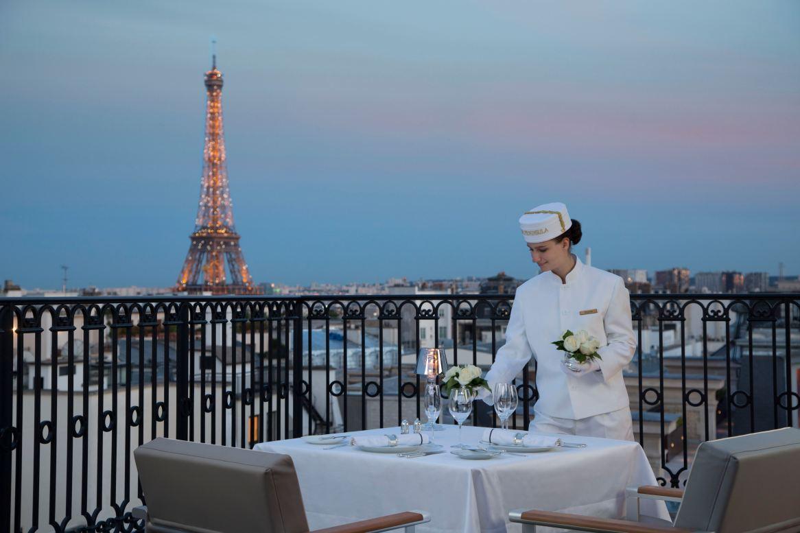 Terrace Eiffle Tower Dining