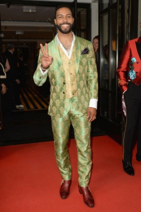 NEW YORK, NEW YORK - MAY 06: Omari Hardwick departs The Mark Hotel for the 2019 'Camp: Notes on Fashion' Met Gala on May 06, 2019 in New York City. (Photo by Andrew Toth/Getty Images for The Mark Hotel)