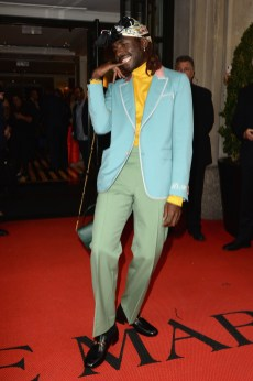 NEW YORK, NEW YORK - MAY 06: Dev Hynes departs The Mark Hotel for the 2019 'Camp: Notes on Fashion' Met Gala on May 06, 2019 in New York City. (Photo by Andrew Toth/Getty Images for The Mark Hotel)